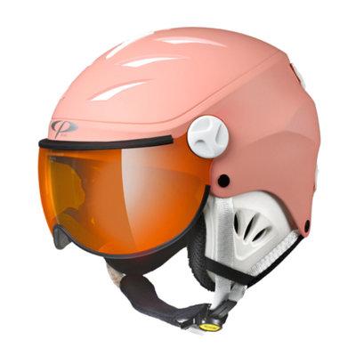 Skihelm met Vizier Kind - CP Camulino quarz pink - orange silver mirror visor cat. 2 - (☁/❄/☀)
