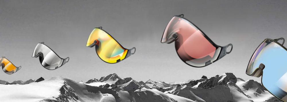 Buy a helmet visor seperate to change- big choice at topsnowshop