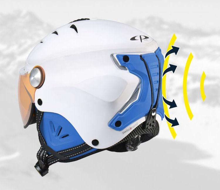 Skihelm met Vizier Kind | extra veilige achterzijde kinder skihelm met vizier