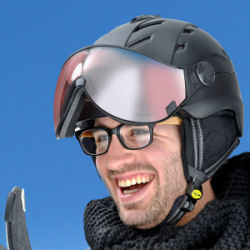 CP ski helmets - best ski helmet with visor for spectacle wearers