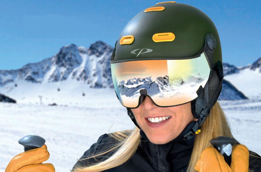 snowboard helm met vizier kopen - snowboard helm met bril - snowboard helm en bril