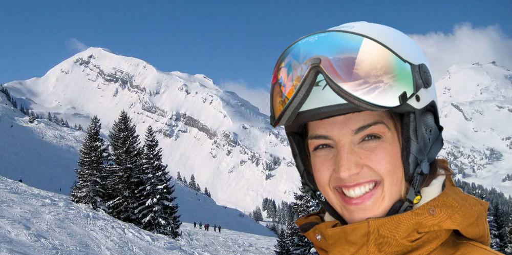 cp carachillo ski- en  snowboard helm met vizier kopen