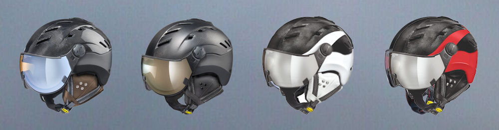 example expensive ski helmet with carbon finish