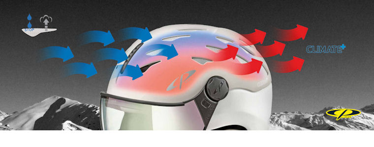 cp cuma visor ski helmet with climate+ ventilation