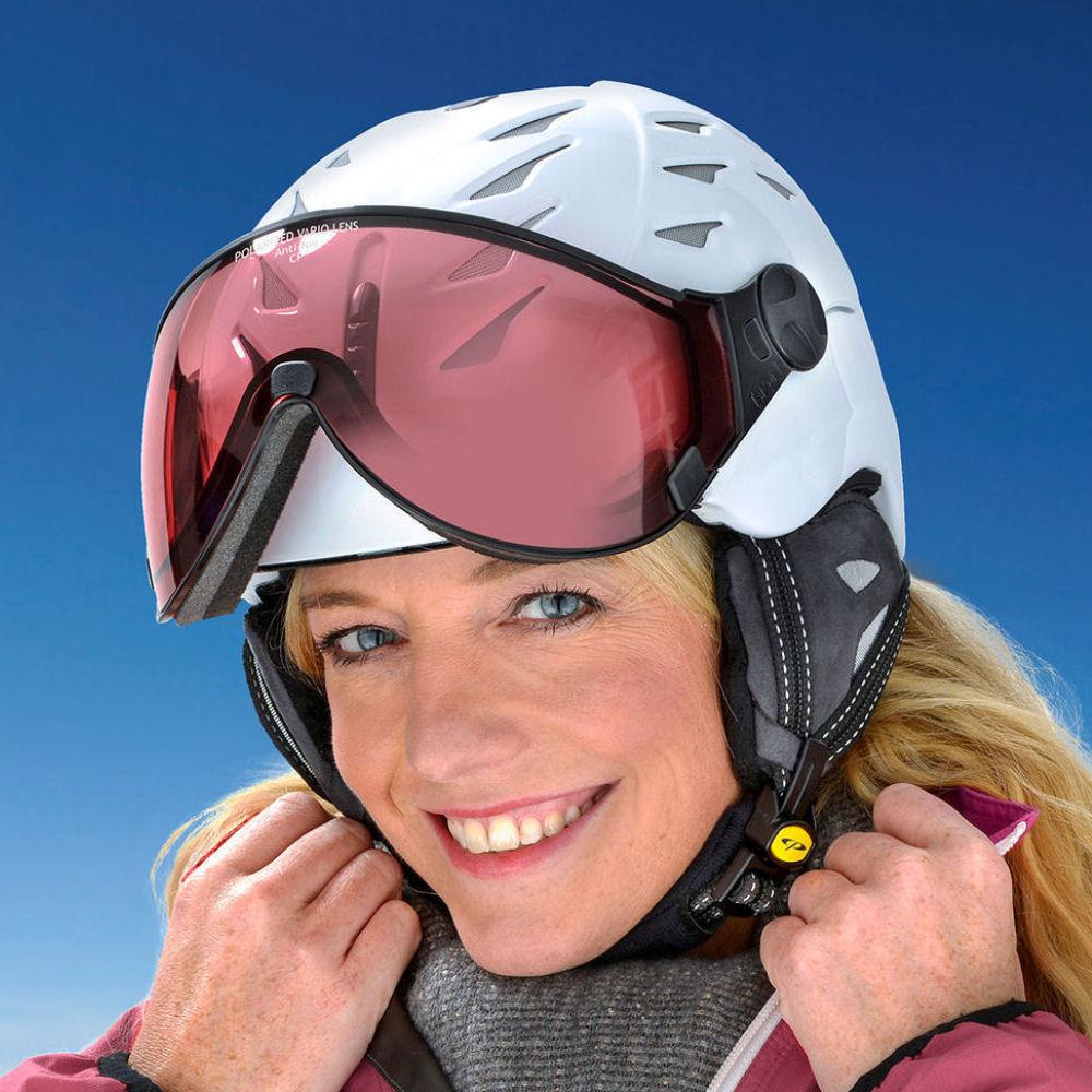 skihelm dames met vizier bruin kopen online bij de Nr.1 TopSnowShop.nl