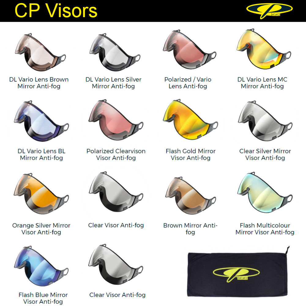 CP Ski helmet exchange Visor | In many Colors and types - also photochromic ski helmet visor and polarized ski helmet visor