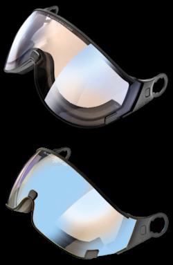 cp skihelm vizier in 2 vormen