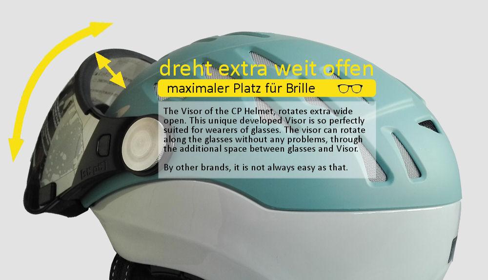 Beste Skihelm mit visier für Brillenträger Herren oder Damen dann ist CP der Nr.1 Helm für Brillenträger
