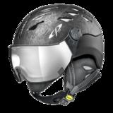Helm Cuma Cubic Black Silver Mirror