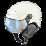 Snowboard helm met Vizier CP Carachillo_whiteDl Vario Lens Brown Pol Ice Mirror