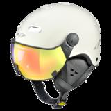 Snowboard helm met Vizier CP Carachillo_white Dl Vario Lens Multicolour Mirror