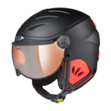 Skihelm met Vizier Camulino - Black s.t./Red - Orange Silver Mirror
