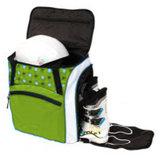 skischoenentas skhelm tas kinderen groen-wit 2