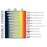 cp 15 skihelm vizier visor visier photochromic - photochrom - polarised - polarisiert