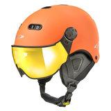 CP Carachillo XS skihelm exotic orange s.t. oranje-orange - kinder skihelm met spiegel vizier - dames skihelm met vizier - kind