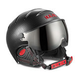 KASK ELITE PRO SKIHELM MET VIZIER - CARBON BLACK RED - PHOTOCHROMIC VIZIER SKI HELMET SKIHELME VISOR VISIER SHE00035.271