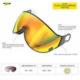 CP 05 flash gold mirror Visor cat3-voor CP Camurai en Cuma skihelm 7640171670911 kopen