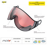CP 08 Polarized Clearvision Visor Camurai en Cuma S2 7640171670942