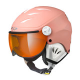 CP CAMULINO SKIHELM - QUARZ PINK - ORANGE SILVER MIRROR VIZIER CAT. 2 skihelm kind-kinder skihelm - kinderskihelm