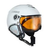 osbe skihelm met vizier dames en heren Proton Snow Shiny White 37146000011