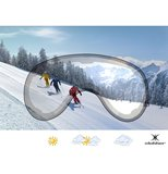Skihelm Slokker  raider  - black - photochromic polarized Vizier  (☁/☀/❄)_