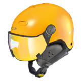 Snowboard helm met Vizier CP Carachillo - maize s.t. / maize - flash gold mirror