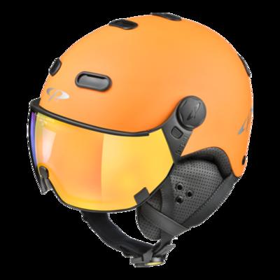 CP Skihelm met Vizier Oranje Zwart - CP Carachillo - Spiegel Vizier (❄/☁/☀)