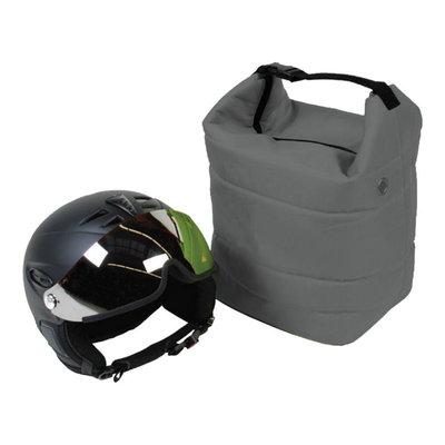 skihelm tas grijs ook voor de skibril - voor bescherming helm en bril tegen krassen!