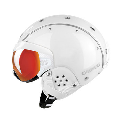 Skihelm Wit - Casco SP-6 Vizier - Photochrom Vautron - cat.1-3(☁/❄)