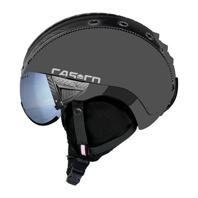 Skihelm Grijs - Casco SP-2 Vizier - Polariserend cat.1-3(☁/❄)