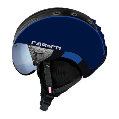 Skihelm Blauw Zwart- Casco SP-2 Vizier - Polariserend Vizier