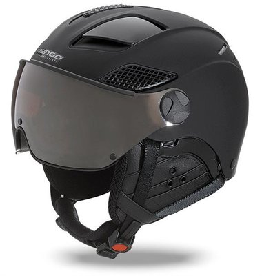 Skihelm Mango quota free - total black mat - meekleurend & polariserend cat. 2 (☁/❄/☀)