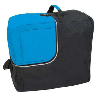 Skischoenentas zwart & Skihelm tas blauw afritsbaar!- ideaal bij wintersport met vliegtuig!