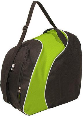 Skischoenen Tas & Skihelm tas Sapporo zwart-groen| Nooit meer met 2 tassen slepen!