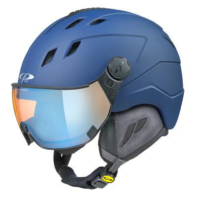 CP Corao+ skihelm blauw met meekleurend & polariserend vizier (3 Keuzes) - zeer veilig