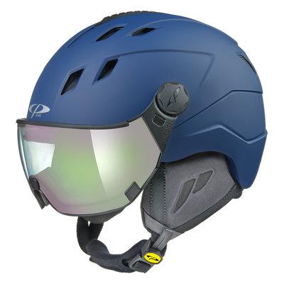 CP Corao+ skihelm blauw met meekleurend vizier (4 Keuzes) - zeer veilig