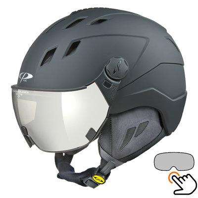 CP Corao+ skihelm zwart met single spiegel vizier (2 Keuzes) - zeer veilig