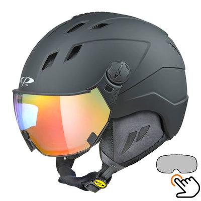 CP Corao+ skihelm zwart met meekleurend vizier (4 Keuzes) - zeer veilig