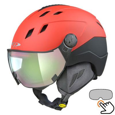 CP Corao+ skihelm rood met meekleurend vizier (4 Keuzes) - zeer veilig