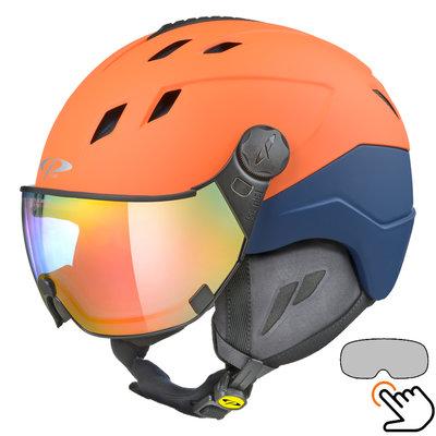 CP Corao+ skihelm oranje met meekleurend vizier (4 Keuzes) - zeer veilig
