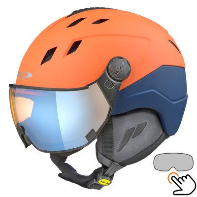 CP Corao+ skihelm oranje met meekleurend & polariserend vizier (3 Keuzes) - zeer veilig