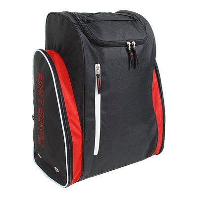 Geniale Skischoenen Tas & Skihelm tas in één zwart-rood