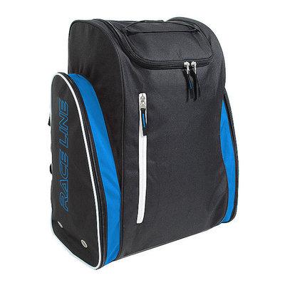 Geniale Skischoenen Tas & Skihelm tas in één zwart-blauw