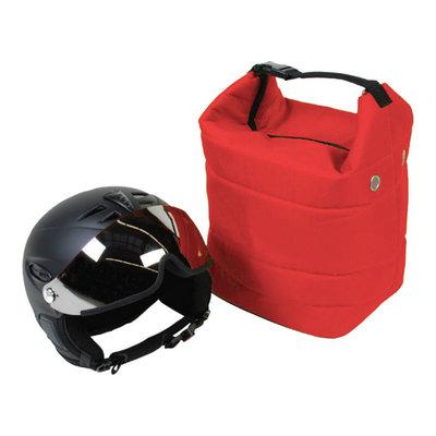skihelm tas rood ook voor de skibril - voor bescherming helm en bril tegen krassen!