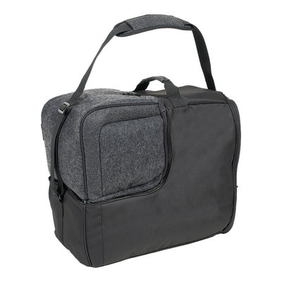 Skischoenentas zwart & Skihelm tas afritsbaar!- ideaal bij wintersport met vliegtuig!