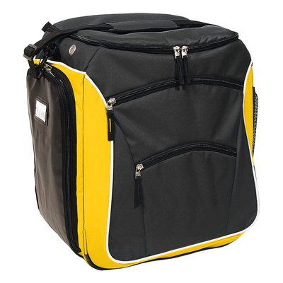 Professionele Skischoenen Tas & Skihelm tas in één zwart-oranje
