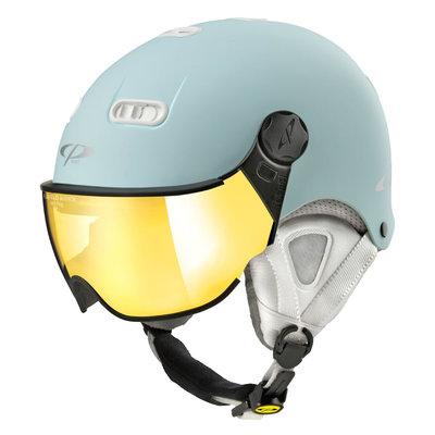 CP Carachillo XS skihelm licht blauw mat - helm met spiegel vizier (☁/☀)