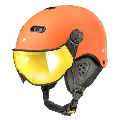 CP Carachillo XS skihelm oranje mat - helm met spiegel vizier (☁/☀)