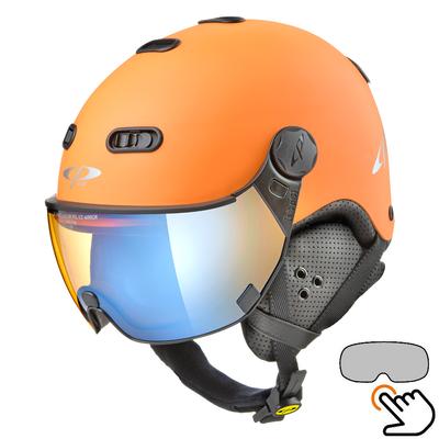 CP Carachillo oranje skihelm - meekleurend & polariserend Vizier (3 Keuzes)