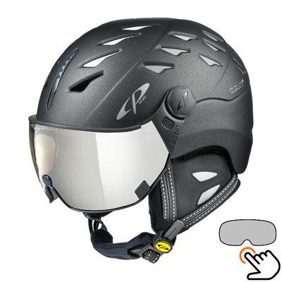 CP Cuma Cashmere skihelm zwart - meekleurend vizier (7 Keuzes)